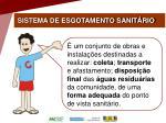 sistema de esgotamento sanit rio