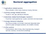 sectoral aggregation