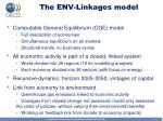 the env linkages model