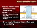 wind driven ventilation