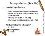 interpretation results
