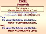 excel t intervals