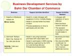 business development services by bahir dar chamber of commerce