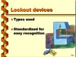 lockout devices