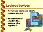 lockout devices18