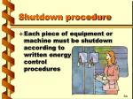 shutdown procedure