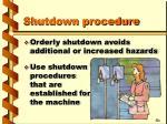shutdown procedure10