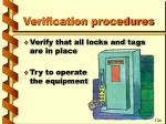 verification procedures