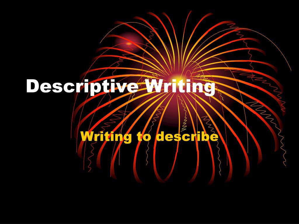 descriptive writing l.