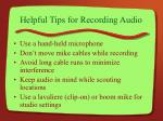 helpful tips for recording audio10