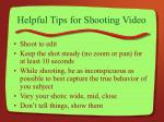 helpful tips for shooting video8