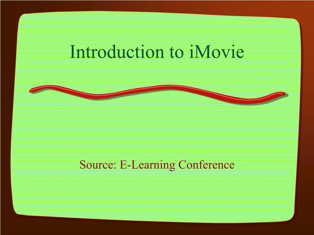 introduction to imovie l.