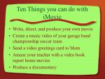 ten things you can do with imovie