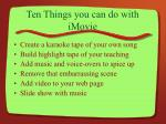 ten things you can do with imovie4
