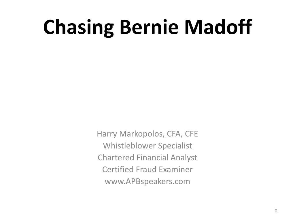 chasing bernie madoff l.