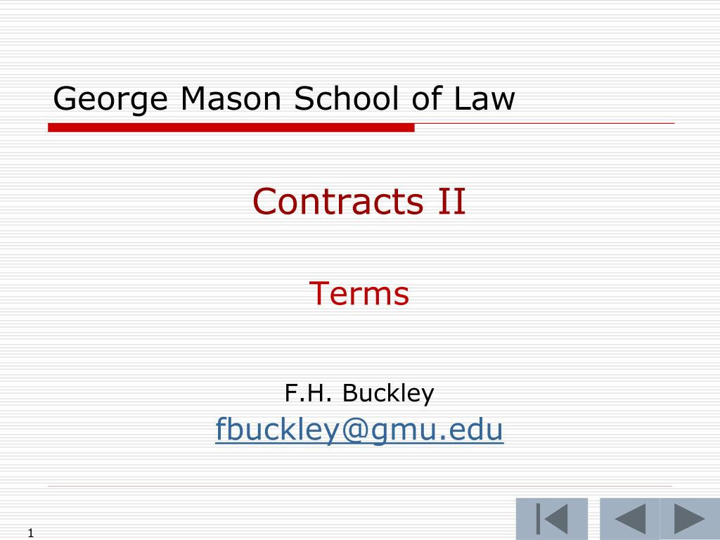 george mason school of law l.