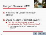 merger clauses uaw70