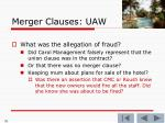 merger clauses uaw76