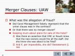merger clauses uaw77