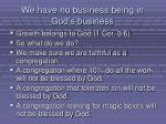 we have no business being in god s business
