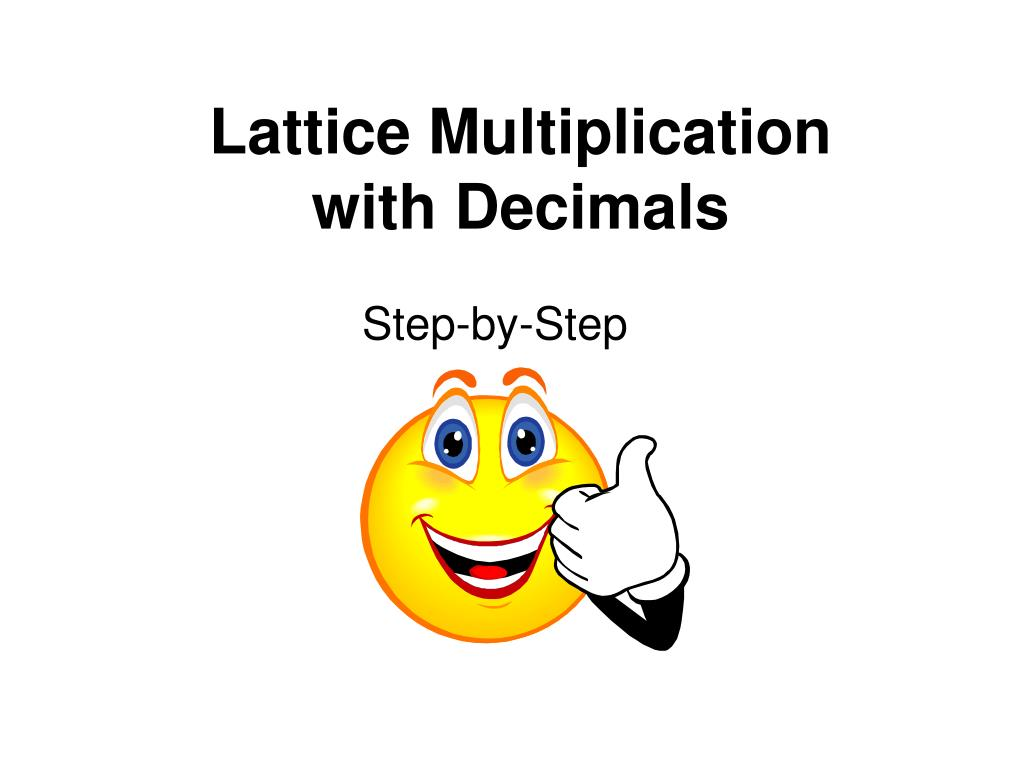 lattice multiplication with decimals l.