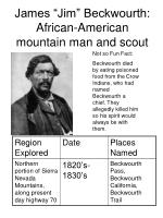 james jim beckwourth african american mountain man and scout