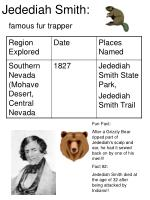 jedediah smith famous fur trapper