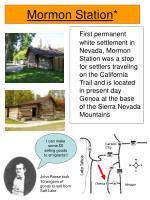 mormon station