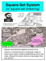 square set system or square set timbering