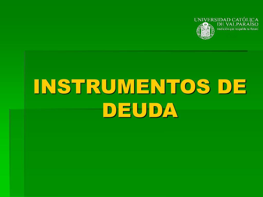 instrumentos de deuda l.