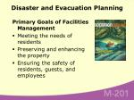 disaster and evacuation planning51