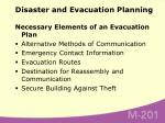 disaster and evacuation planning54