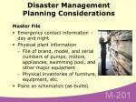 disaster management planning considerations57
