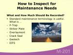 how to inspect for maintenance needs31