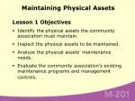 maintaining physical assets