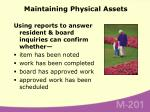 maintaining physical assets33