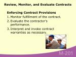 review monitor and evaluate contracts80