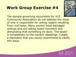 work group exercise 4