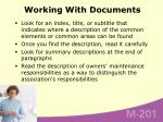 working with documents