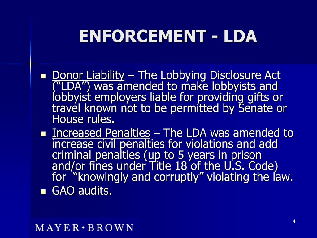 ENFORCEMENT - LDA