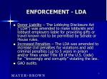 enforcement lda
