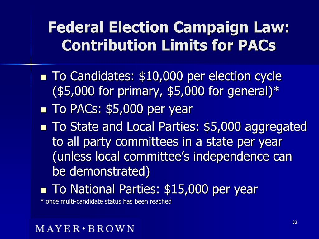 Federal Election Campaign Law: