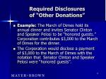 required disclosures of other donations