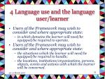 4 language use and the language user learner