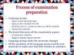 process of examination preparation