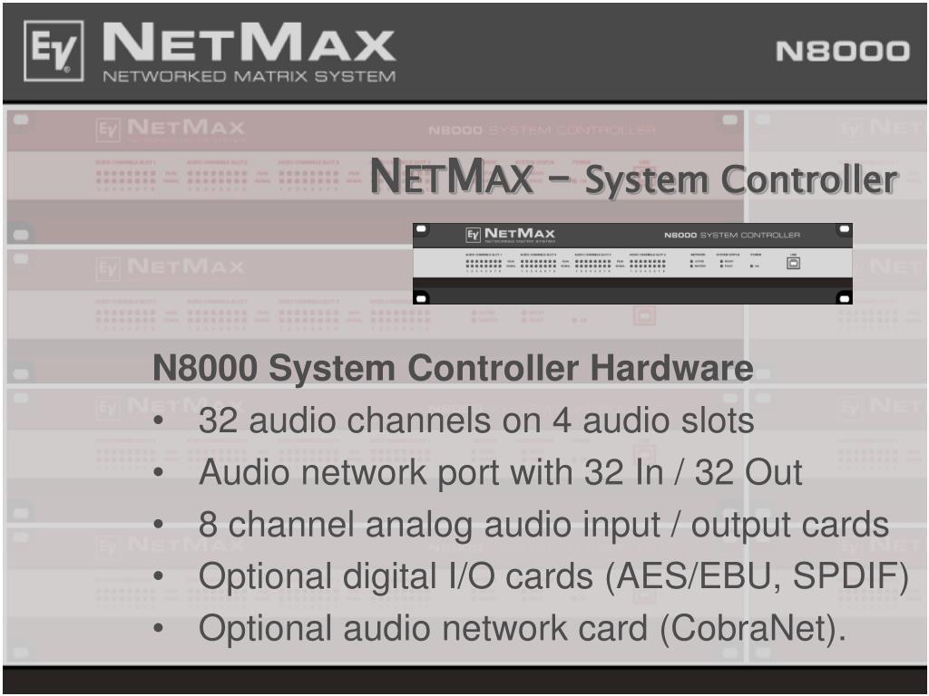 n et m ax system controller l.