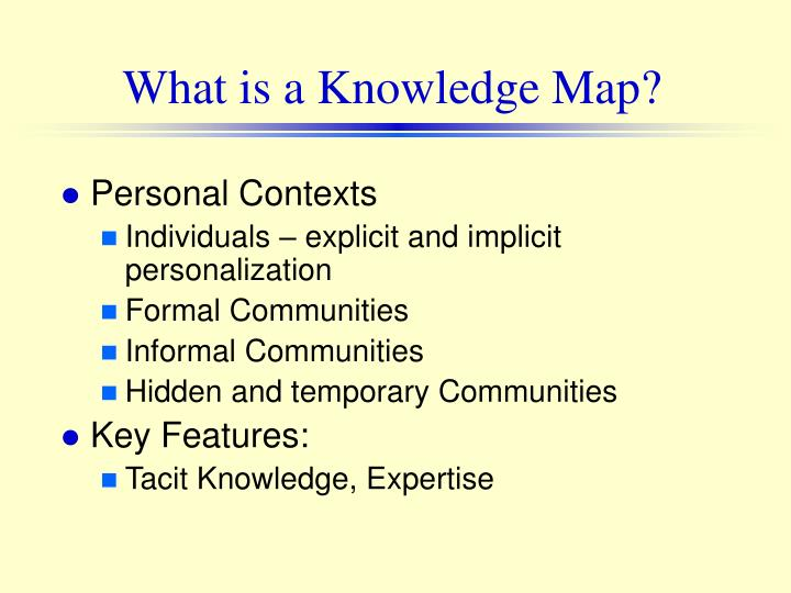 features of tacit knowledge