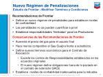 nuevo r gimen de penalizaciones estudio de frontier modificar t rminos y condiciones