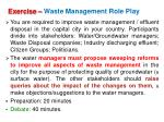 exercise waste management role play