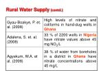 rural water supply contd